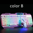 Gaming Keyboard Mouse Gamer Professional Set Led Mechanical Feel Wired
