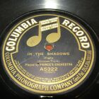 PRINCE'S ORCHESTRA-78-IN THE SHADOW/THE COUNT OF LUXEMBURG-WALTZ-COLUMBIA RECORD