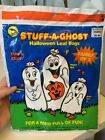 Sunhill Family Of 3 Stuff A Ghost Halloween Leaf Bags New Dated 1992