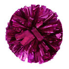 Cool Metallic Foil And Plastic Ring Handheld Pom Poms Cheerleading Party Decor