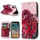 Pattern Leather Card Slot Stand Flip Case Cover For iPhone XS Max Samsung Note 9