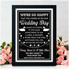 Personalised Wedding Guest Book Sign - Leave Us A Note Guestbook Wedding Sign