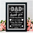 Personalised Father of the Bride Dad Thank You for Walking By My Side Gifts Sign