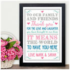 PERSONALISED Wedding Signs THANK YOU Center Piece Wedding Reception Church Sign