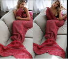 Mermaid Tail Sofa Blanket Super Soft Warm Hand Crocheted Knitting Wrap For Adult