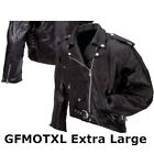 Mens Black Buffalo Leather Classic Biker Motorcycle Jacket