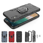 For iPhone XS Max/XR/6s/7/8 Shockproof Ring Stand Rugged Hybrid Armor Case Cover
