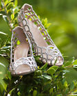 New Sergio Rossi ROYAL STRASS Nappa Crystal Golden Scalloped Shoes 40.5