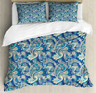 Paisley Duvet Cover Set with Pillow Shams Asian Inspired Persian Print image
