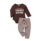US Thanksgiving Outfits Baby Girl Boy Clothes Long Sleeve Ro
