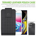 HIGH GRADE CLASSIC HOLSTER BELT CLIP LEATHER CASE FOR SAMSUNG GALAXY PHONES