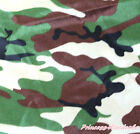 Brown Green Camouflage Hand Crafting Sewing Design Satin Fabric Cloth 1 Yard