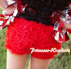 Hot Red Ruffles Pettipants Bloomer Pantie Short Pant for Kids Baby Girl 1-8Year