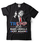 Donald Trump Maga T-shirt Funny 2020 Elections Make Liberals Cry Again T shirts image