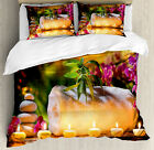 Spa Duvet Cover Set with Pillow Shams Asian Romantic Gard...