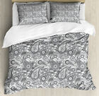 Paisley Duvet Cover Set with Pillow Shams Digital Persian Leaf Print image