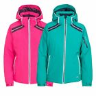 Trespass Raithlin Womens Stretch Padded Ski Jacket in Green and Pink