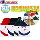 Christmas Chair Back Cover Snowman Hat Decoration Dinner Table Decor Xmas