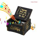 Harry Potter Star Wars Music Box Engraved Wooden Music Box Craft Collectible Toy