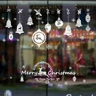 Christmas Decoration For Home White Red Christmas Sticker Removable Waterproof