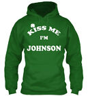Kiss Me I Am Johnson Gildan Hoodie Sweatshirt