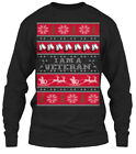 I Am A Veteran Christmas Ugly Sweater - Gildan Long Sleeve Tee T-Shirt