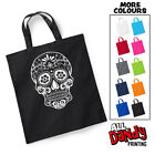 Candy Skull Tote Bag - Halloween Trick Or Treat Sweets Sack Day Of The Dead