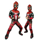 Boys Deluxe Marvel Deadpool Muscle Kids Halloween Party Costume