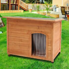 Insulated Dog Kennels Wooden Puppy Kennel House Removable Floor Outdoor Garden