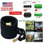 Durable Expandable Hose 25/50/75/100ft Flexible Water Garden Hose Pipe Watering@