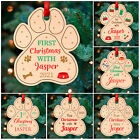 PERSONALISED DOG Christmas Tree Decorations Baubles Pets 1st Xmas Gifts Cats