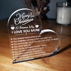 Personalised Christmas Gift Engraved Heart 10 Reasons Why I Love You Mum Dad