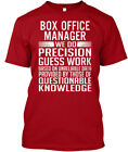 Supersoft Box Office Manager - We Do Precision Guess Hanes Tagless Tee T-Shirt