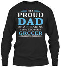 Must-have Grocer - I M A Proud Dad Of Freaking Gildan Long Sleeve Tee T-Shirt