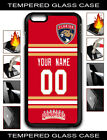NHL Florida Panthers Personalized Name/Number iPhone Tempered Glass Case 161505 $15.99 USD on eBay