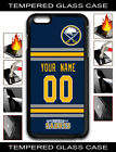 NHL Buffalo Sabres Personalized Name/Number iPhone Tempered Glass Case 160506 $18.99 USD on eBay