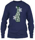 Wonderful Time Beer Christmas S Gildan Long Sleeve Tee T-Shirt
