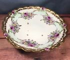 LSS Lewis Strauss & Sons AL Limoges France Hand Painted 3 Footed Bowl Roses 10H