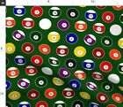 Pool Billiards Pool Balls Game Sports Fabric Printed by Spoonflower BTY $32.0 USD on eBay