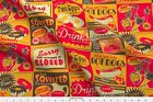 Retro Kitchen Diner Food Advertising Ads Fabric Printed by Spoonflower BTY
