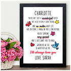 Birthday Gifts for Sister Personalised Sisters Poem Gifts for Her She Presents
