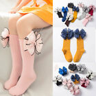 Pretty Girl Soft Candy Color Cotton Long Socks Big Bow High Knee Sock Baby Sock