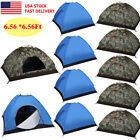 Camping Waterproof Outdoor 3-4Person 4Season Folding Tent Hiking Camo/Blue LOT B