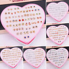 USA 36 Pairs/Set Fashion Crystal Ear Stud Earrings Women Jewelry New Year Gifts image