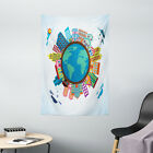World Map Tapestry Apartment Building Print Wall Hanging Decor