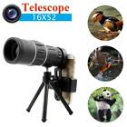 16X52 Zoom Phone Camera Lens Telescope Monocular + Clip + Tripod For Cell Phone