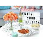 LED Cinematic Light Up Sign Box A4 DIY Message Board Letter Lamp Party Decor