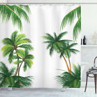 Tropic Shower Curtain Coconut Palm Tree Plants Print for Bathroom