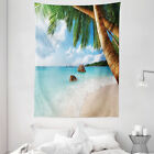 Beach Tapestry Exotic Palm Tree Ocean Print Wall Hanging Decor