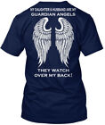 Daughter And Husband Guardian Angels - My & Are They Hanes Tagless Tee T-Shirt